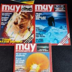 Coleccionismo de Revista Muy Interesante: REVISTAS MUY INTERESANTE. Lote 129704720