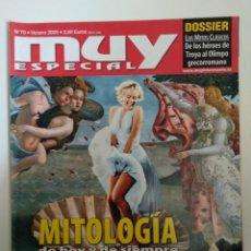 Coleccionismo de Revista Muy Interesante: MUY ESPECIAL Nº 70 VERANO 2005 MITOLOGÍA DE HOY Y DE SIEMPRE. Lote 134378114