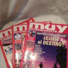 Coleccionismo de Revista Muy Interesante: LOTE DE TRES REVISTAS MUY INTERESANTE, VER. Lote 134452389