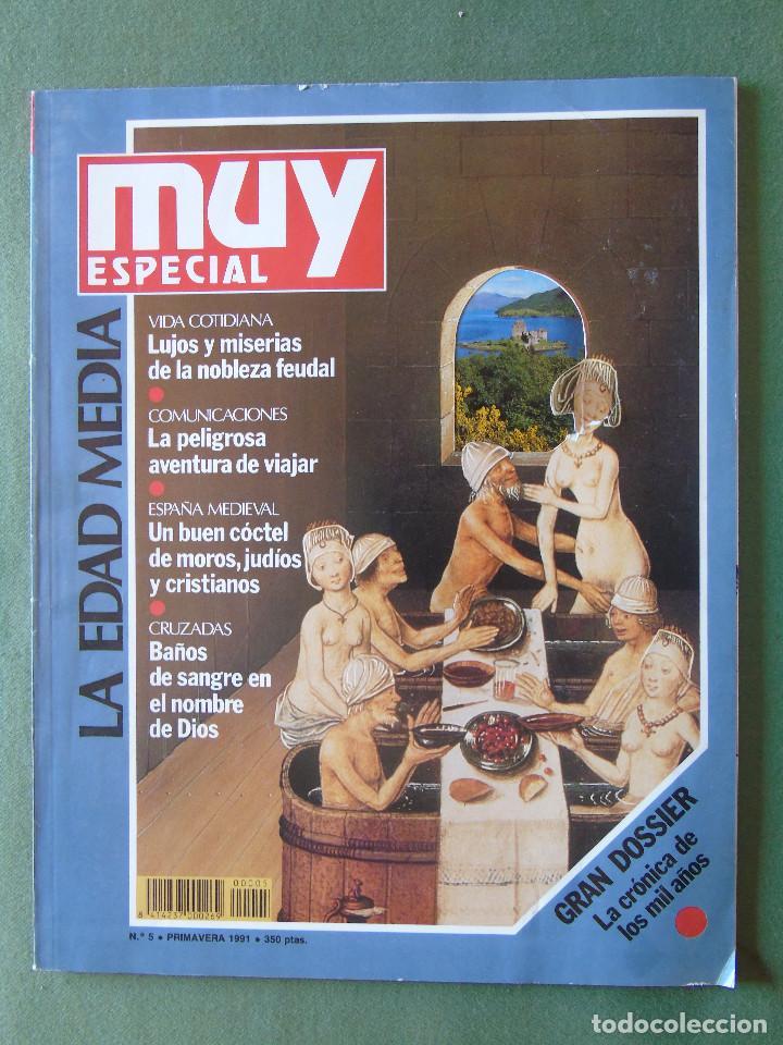 REVISTA MUY INTERESANTE. ESPECIAL LA EDAD MEDIA. Nº 5. PRIMAVERA 1991. (Coleccionismo - Revistas y Periódicos Modernos (a partir de 1.940) - Revista Muy Interesante)