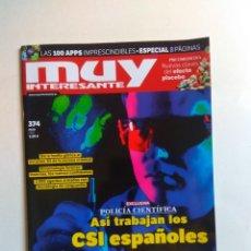 Coleccionismo de Revista Muy Interesante: REVISTA MUY INTERESANTE Nº 374. Lote 137217254