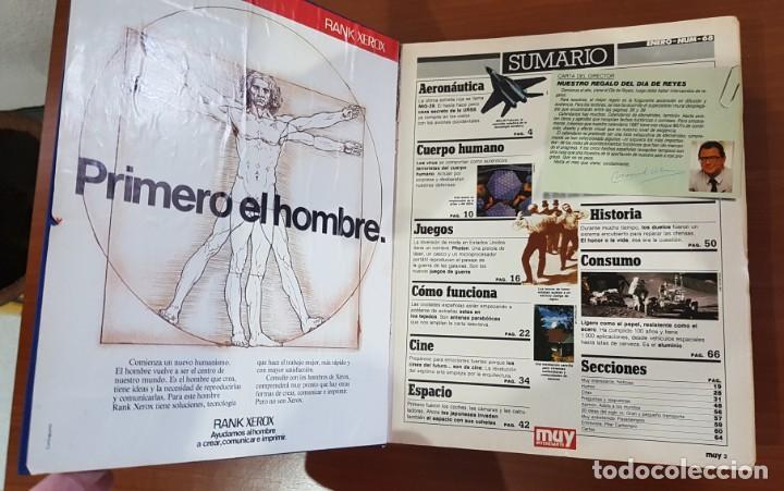 Coleccionismo de Revista Muy Interesante: TOMO ENCUADERNADO DE LA REVISTA MUY INTERESANTE (Nº 68,69,70,71,72,73,74,75,77,78,79). - Foto 2 - 141471810