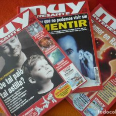 Coleccionismo de Revista Muy Interesante: MUY INTERESANTE NºS 205, 206 Y 207 JUNIO JULIO AGOSTO 1998. Lote 161747206