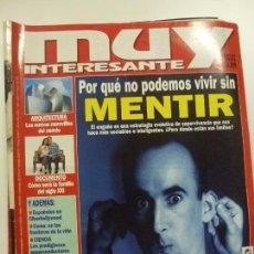 Coleccionismo de Revista Muy Interesante: MUY INTERESANTE. ¿POR QUÉ NO PODEMOS VIVIR SIN MENTIR? Nº 206. JULIO 1998.. Lote 171503064