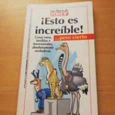 Coleccionismo de Revista Muy Interesante: ¡ESTO ES INCREÍBLE! MUY INTERESANTE Nº 288 (MAYO 2005). Lote 175357693