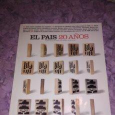 Coleccionismo de Revista Muy Interesante: EL PAÍS - SUPLEMENTO 20 AÑOS.. Lote 182798022