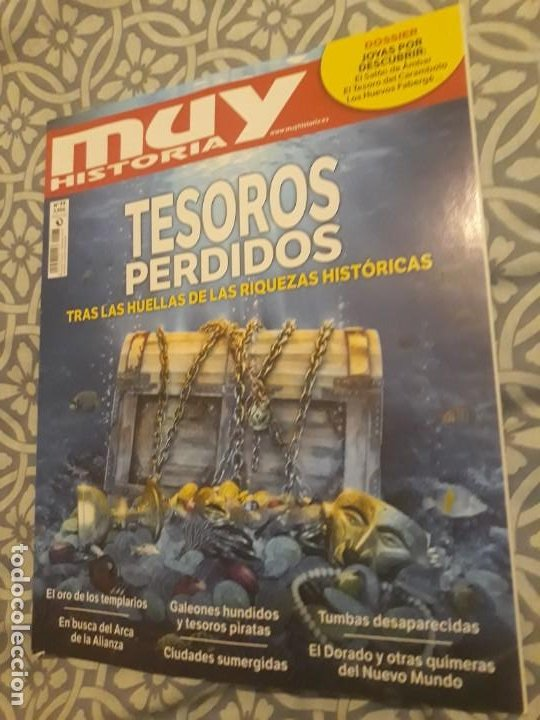 REVISTA MUY INTERESANTE HISTORIA Nº77 TESOROS PERDIDOS* (Coleccionismo - Revistas y Periódicos Modernos (a partir de 1.940) - Revista Muy Interesante)