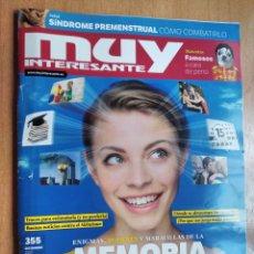 Coleccionismo de Revista Muy Interesante: REVISTA MUY INTERESANTE 355 DICIEMBRE 2010 ENIGMAS PODERES Y MARAVILLAS DE LA MEMORIA. Lote 192790470