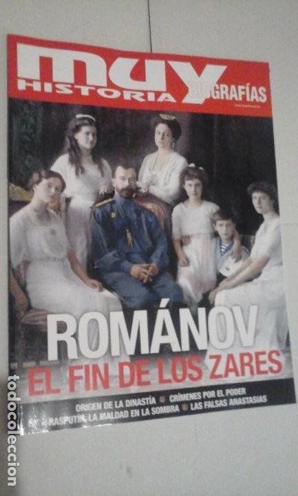 MUY HISTORIA BIOGRAFIAS Nº24 (ROMÁNOV:EL FIN DE LOS ZARES) ¡¡LEER DESCRIPCION!! (Coleccionismo - Revistas y Periódicos Modernos (a partir de 1.940) - Revista Muy Interesante)