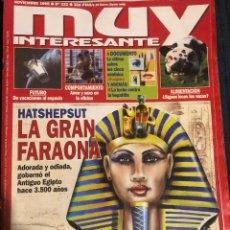 Coleccionismo de Revista Muy Interesante: REVISTA 'MUY INTERESANTE', Nº 222. NOVIEMBRE 1999. FARAONA HATSHEPSUT. 262 PÁGINAS. BUEN ESTADO.. Lote 195038018