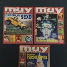 Coleccionismo de Revista Muy Interesante: REVISTA MUY INTERESANTE, NÚMEROS 219, 220 Y 221 (DE AGOSTO A OCTUBRE 1999) EN BUEN ESTADO.. Lote 195441121