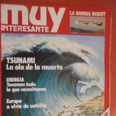 Colecionismo da Revista Muy Interesante: MUY INTERESANTE Nº 1 MAYO TSUNAMI LA OLA DE LA MUERTE - AL ASALTO DE UN CASTILLO . Lote 197589303