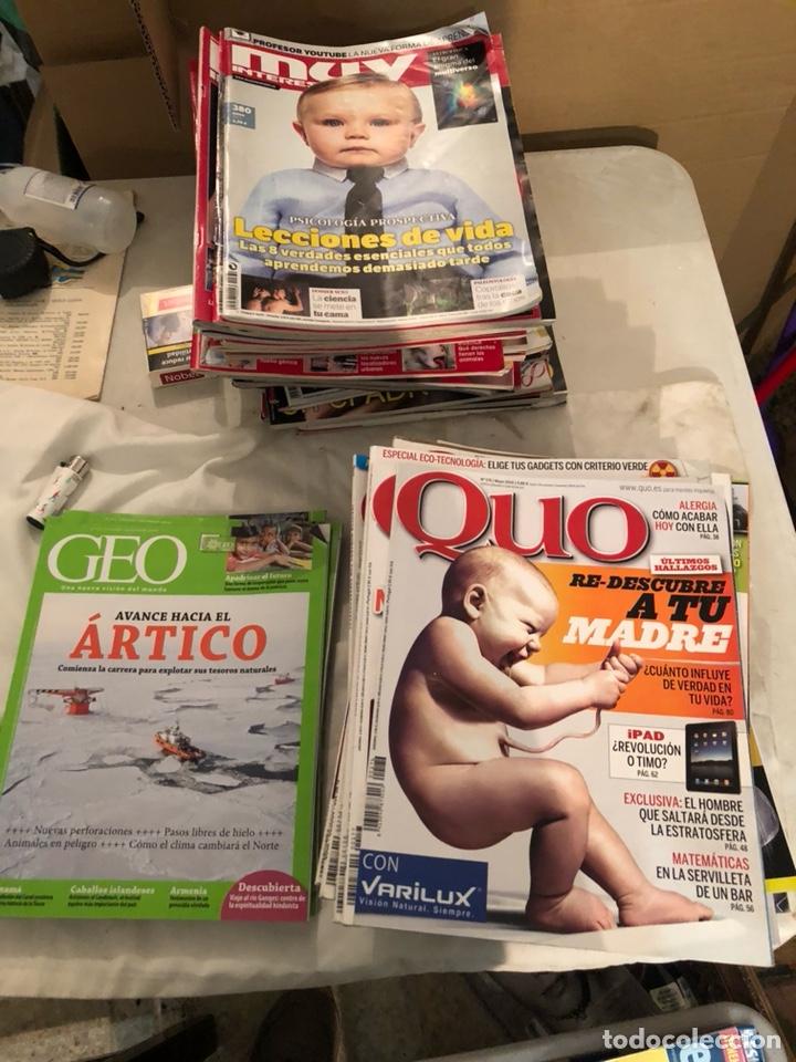 LOTE DE 59 REVISTAS, QUO,MUY INTERESANTE Y GEO (Coleccionismo - Revistas y Periódicos Modernos (a partir de 1.940) - Revista Muy Interesante)