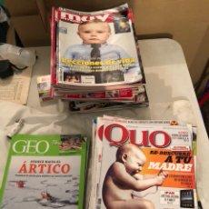 Coleccionismo de Revista Muy Interesante: LOTE DE 59 REVISTAS, QUO,MUY INTERESANTE Y GEO. Lote 197939040