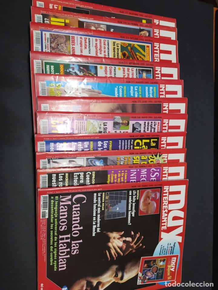 AÑO 1995 REVISTA MUY INTERESANTE 11 NÚMEROS (FALTA JUNIO) (Coleccionismo - Revistas y Periódicos Modernos (a partir de 1.940) - Revista Muy Interesante)