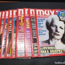 Coleccionismo de Revista Muy Interesante: LOTE DE 11 REVISTAS MUY INTERESANTE AÑO 1993 ( FALTA ABRIL). Lote 200282306