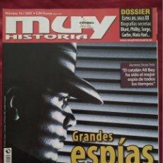 Coleccionismo de Revista Muy Interesante: MUY HISTORIA Nº 10 MARZO 2007. GRANDES ESPÍAS DE LA HISTORIA.. Lote 202868632