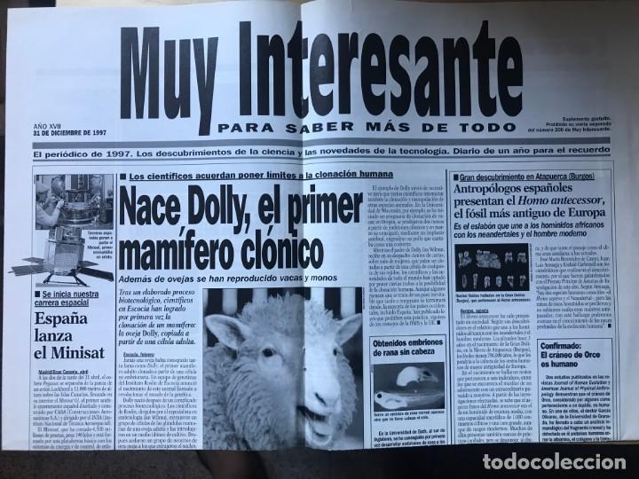 SUPLEMENTO MUY INTERESANTE ESTILO PERIODICO - 31 DE DICIEMBRE DE 1997 (Coleccionismo - Revistas y Periódicos Modernos (a partir de 1.940) - Revista Muy Interesante)