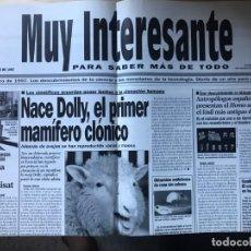 Coleccionismo de Revista Muy Interesante: SUPLEMENTO MUY INTERESANTE ESTILO PERIODICO - 31 DE DICIEMBRE DE 1997. Lote 203198016