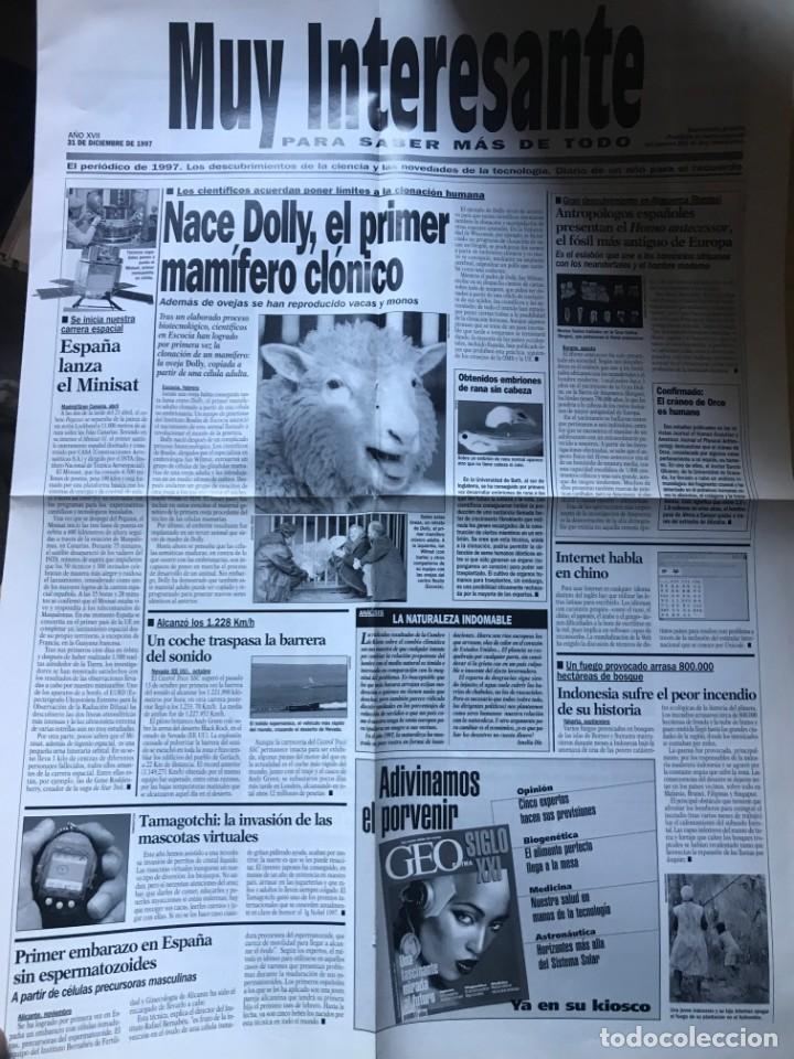 Coleccionismo de Revista Muy Interesante: suplemento Muy Interesante estilo periodico - 31 de Diciembre de 1997 - Foto 2 - 203198016