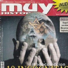 Coleccionismo de Revista Muy Interesante: REVISTA MUY HISTORIA :10 INCOGNITAS DE LA HISTORIA. Lote 208372595