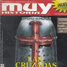 Coleccionismo de Revista Muy Interesante: REVISTAS MUY HISTORIA: LAS CRUZADAS Y SU ÉPOCA. Lote 211593384