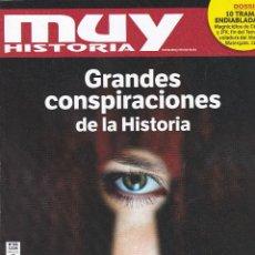 Coleccionismo de Revista Muy Interesante: REVISTAS MUY HISTORIA: GRANDES CONSPIRACIONES DE LA HISTORIA. Lote 211753578