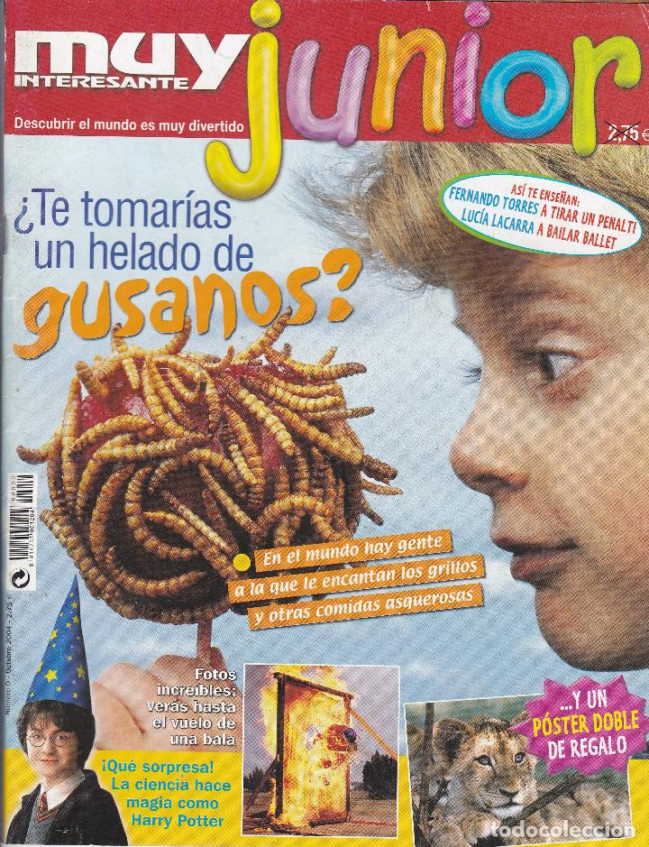 MUY INTERESANTE JUNIOR : TE TOMARIAS UN HELADO DE GUSANOS. (Coleccionismo - Revistas y Periódicos Modernos (a partir de 1.940) - Revista Muy Interesante)