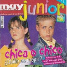 Coleccionismo de Revista Muy Interesante: MUY INTERESANTE JUNIOR : CHICA O CHICO ¿QUIEN ES MEJOR?. Lote 211993936