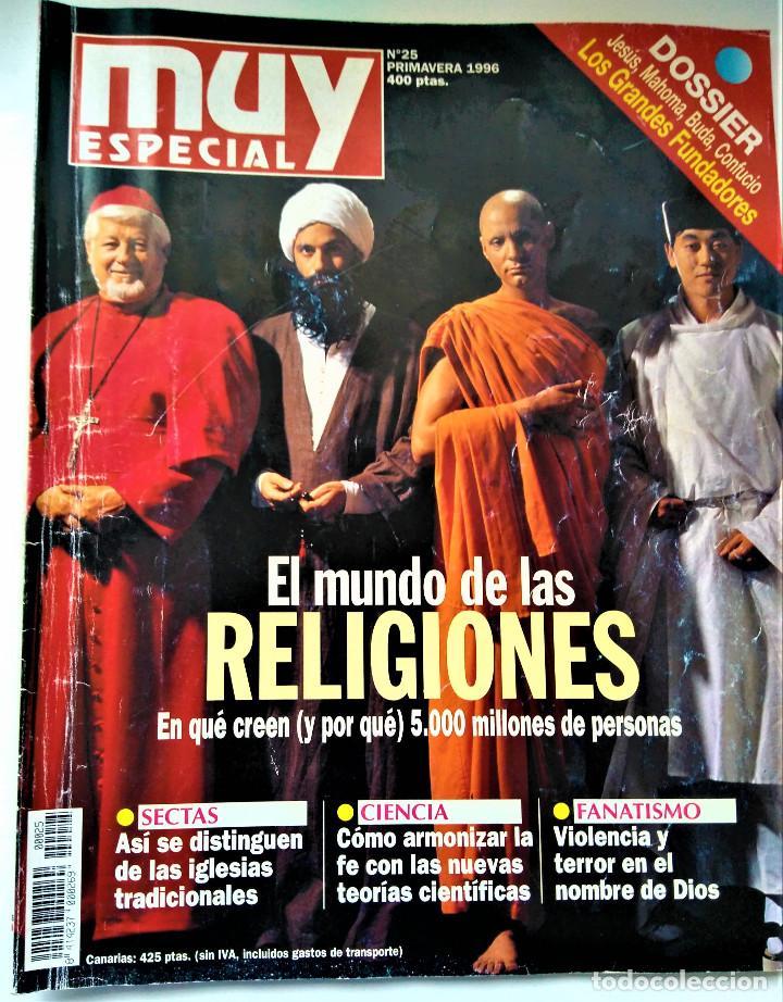 REVISTA MUY INTERESANTE - ESPECIAL Nº 25 - EL MUNDO DE LAS RELIGIONES (Coleccionismo - Revistas y Periódicos Modernos (a partir de 1.940) - Revista Muy Interesante)