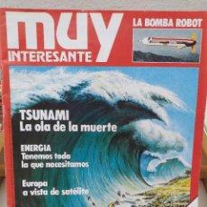Colecionismo da Revista Muy Interesante: Nº 1 / FACSCIMIL / TSUNAMI, LA OLA DE LA MUERTE / ENERGÍA: TENEMOS TODA LA QUE NECESITAMOS / EUROPA. Lote 213548943