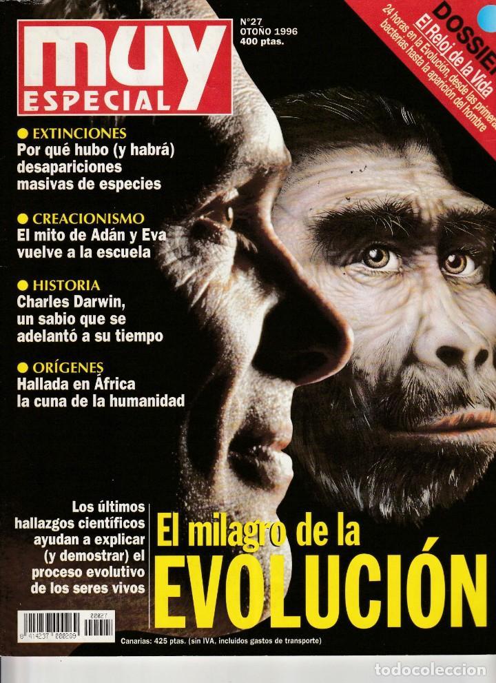 MUY INTERESANTE ESPECIAL EVOLUCION. 27 OTOÑO 1996.DOSSIER EL RELOJ DE LA VIDA (Coleccionismo - Revistas y Periódicos Modernos (a partir de 1.940) - Revista Muy Interesante)