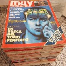 Colecionismo da Revista Muy Interesante: LOTE DE 70 REVISTAS MUY INTERESANTE - ENTRE LOS NÚMEROS 31 Y 119. Lote 219883202