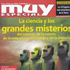 Coleccionismo de Revista Muy Interesante: ESPECIAL PRIMAVERA 2003 LA CIENCIA Y LOS GRANDES MISTERIOS. Lote 221269668