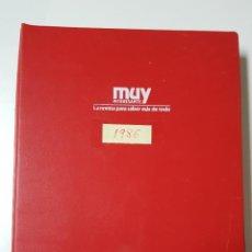 Coleccionismo de Revista Muy Interesante: REVISTAS MUY INTERESANTE. AÑO 1986. COMPLETO. CLASIFICADOR ROJO. Lote 222614310