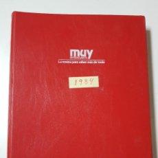 Coleccionismo de Revista Muy Interesante: REVISTAS MUY INTERESANTE. AÑO 1984. COMPLETO. CLASIFICADOR ROJO. Lote 222614456