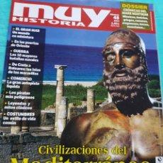 Coleccionismo de Revista Muy Interesante: REVISTA 48 MUY HISTORIA CIVILIZACIONES DEL MEDITERRÁNEO 2013. Lote 228050770
