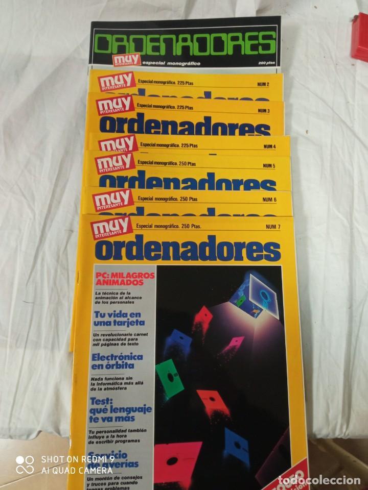 MUY INTERESANTE ORDENADORES LOTE DE 8 REVISTAS (Coleccionismo - Revistas y Periódicos Modernos (a partir de 1.940) - Revista Muy Interesante)