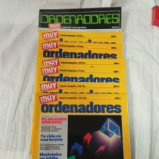 Collectionnisme de Magazine Muy Interesante: MUY INTERESANTE ORDENADORES LOTE DE 8 REVISTAS. Lote 233347220