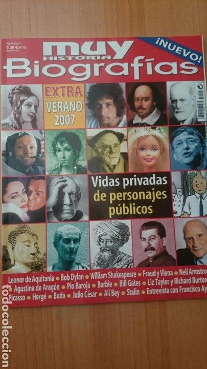 REVISTA MUY INTERESANTE BIOGRAFIAS, NÚMERO 1, AÑO 2007 (Coleccionismo - Revistas y Periódicos Modernos (a partir de 1.940) - Revista Muy Interesante)