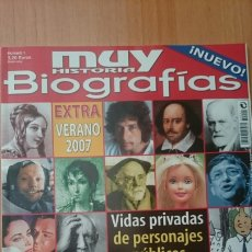 Coleccionismo de Revista Muy Interesante: REVISTA MUY INTERESANTE BIOGRAFIAS, NÚMERO 1, AÑO 2007. Lote 237306710