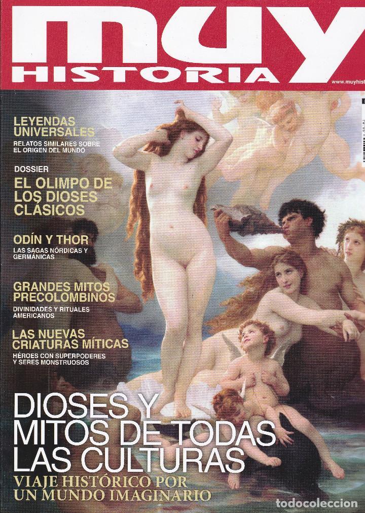 REVISTAS MUY HISTORIA: DIOSES Y MITOS DE TODAS LAS CULTURAS Nº 102 (Coleccionismo - Revistas y Periódicos Modernos (a partir de 1.940) - Revista Muy Interesante)