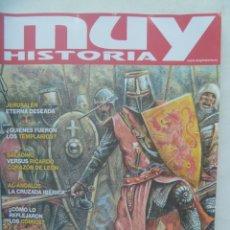 Colecionismo da Revista Muy Interesante: REVISTA MUY HISTORIA , Nº 129 ; LAS CRUZADAS , JERUSALEM, LOS TEMPLARIOS, AL-ANDALUS, ETC. Lote 239956580