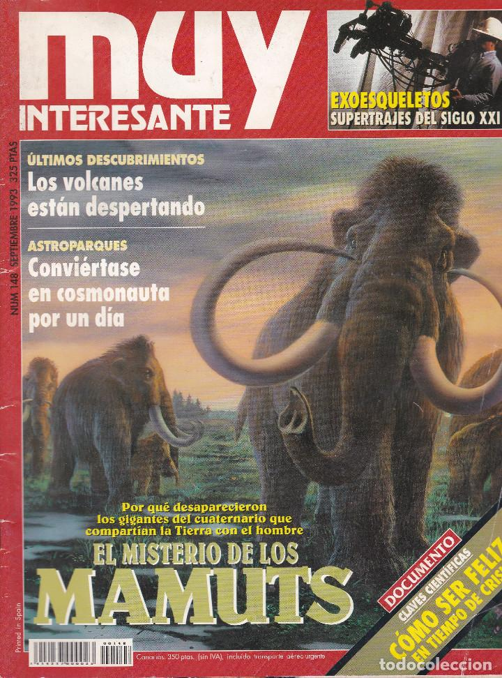 REVISTA MUY INTERESANTE : EL MISTERIO DE LOS MAMUTS Nº 148 EDITADA EN 1993 (Coleccionismo - Revistas y Periódicos Modernos (a partir de 1.940) - Revista Muy Interesante)