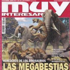Coleccionismo de Revista Muy Interesante: REVISTA MUY INTERESANTE: HEREDEROS DE LOS DINOSAURIOS LAS MEGABESTIASNº 331 EDITADA EN 2008. Lote 242835155