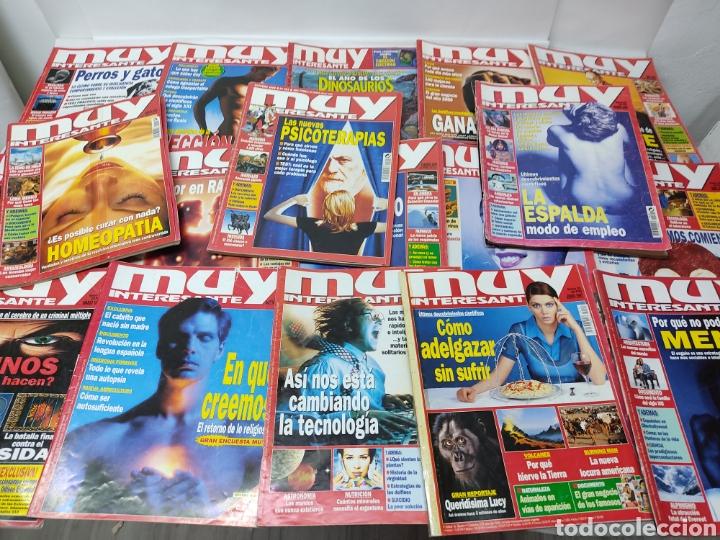 LOTE DE 19 REVISTAS MUY INTERESANTE (Coleccionismo - Revistas y Periódicos Modernos (a partir de 1.940) - Revista Muy Interesante)