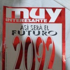 Coleccionismo de Revista Muy Interesante: MUY INTERESANTE- FOLLETO SUELTO-- ASÍ SERÁ EL FUTURO--EN EXCELENTE ESTADO DE CONSERVACIÓN--. Lote 269674593