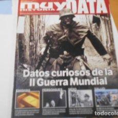Coleccionismo de Revista Muy Interesante: MUY HISTORIA DATA-DATOS CURIOSOS DE LA II GUERRA MUNDIAL. Lote 269846683