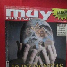Coleccionismo de Revista Muy Interesante: MUY HISTORIA 10 INCOGNITAS DE LA HISTORIA. Lote 277036398