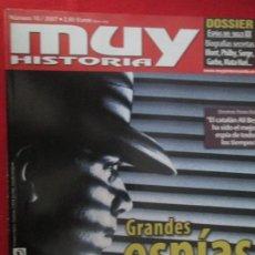Coleccionismo de Revista Muy Interesante: MUY HISTORIA GRANDES ESPIAS. Lote 277036453